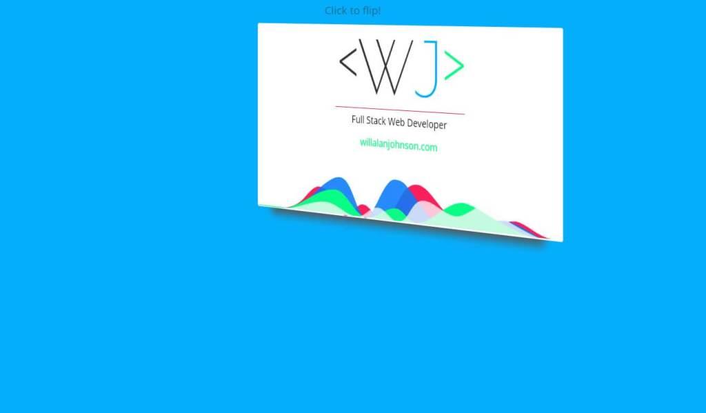 JavaScript Digital Business Card