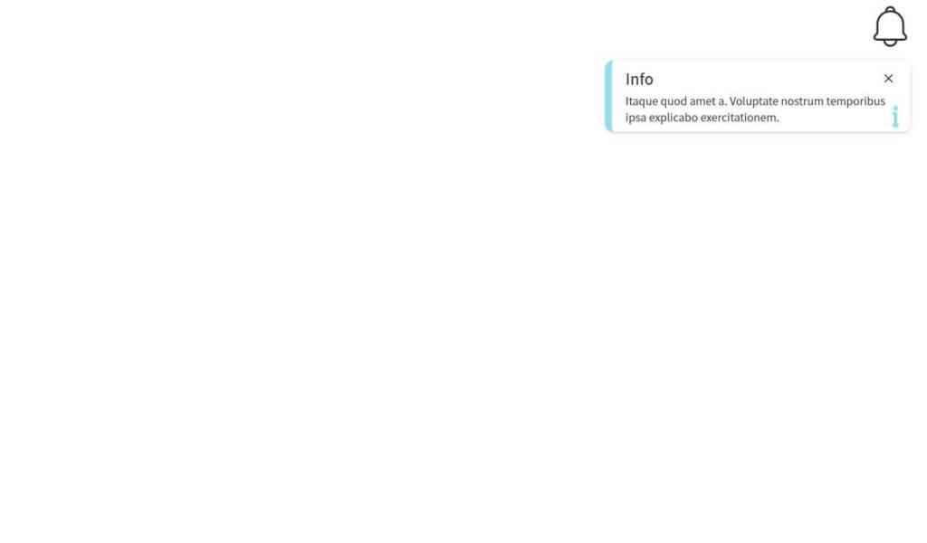 JavaScript Notification SVG Icon