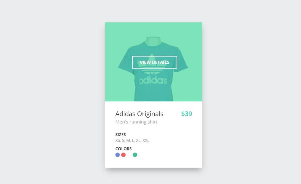 JS Single Product Cards Example