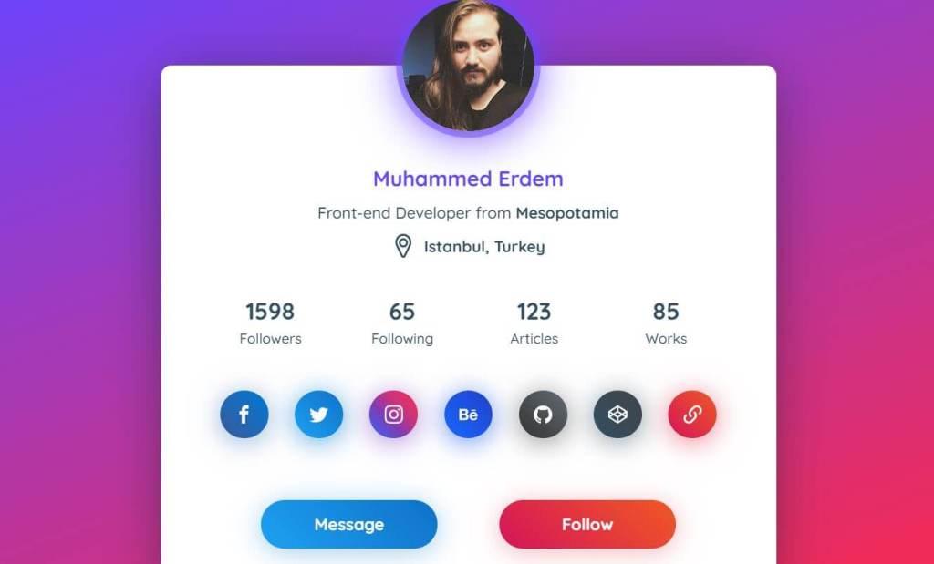 JavaScript Profile Card