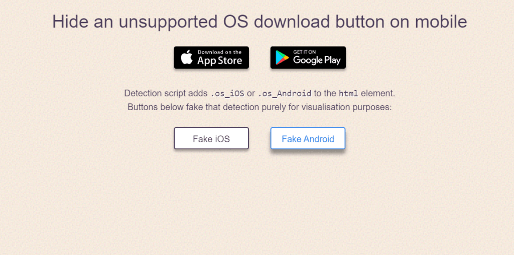 Hide An Unsupported OS Button