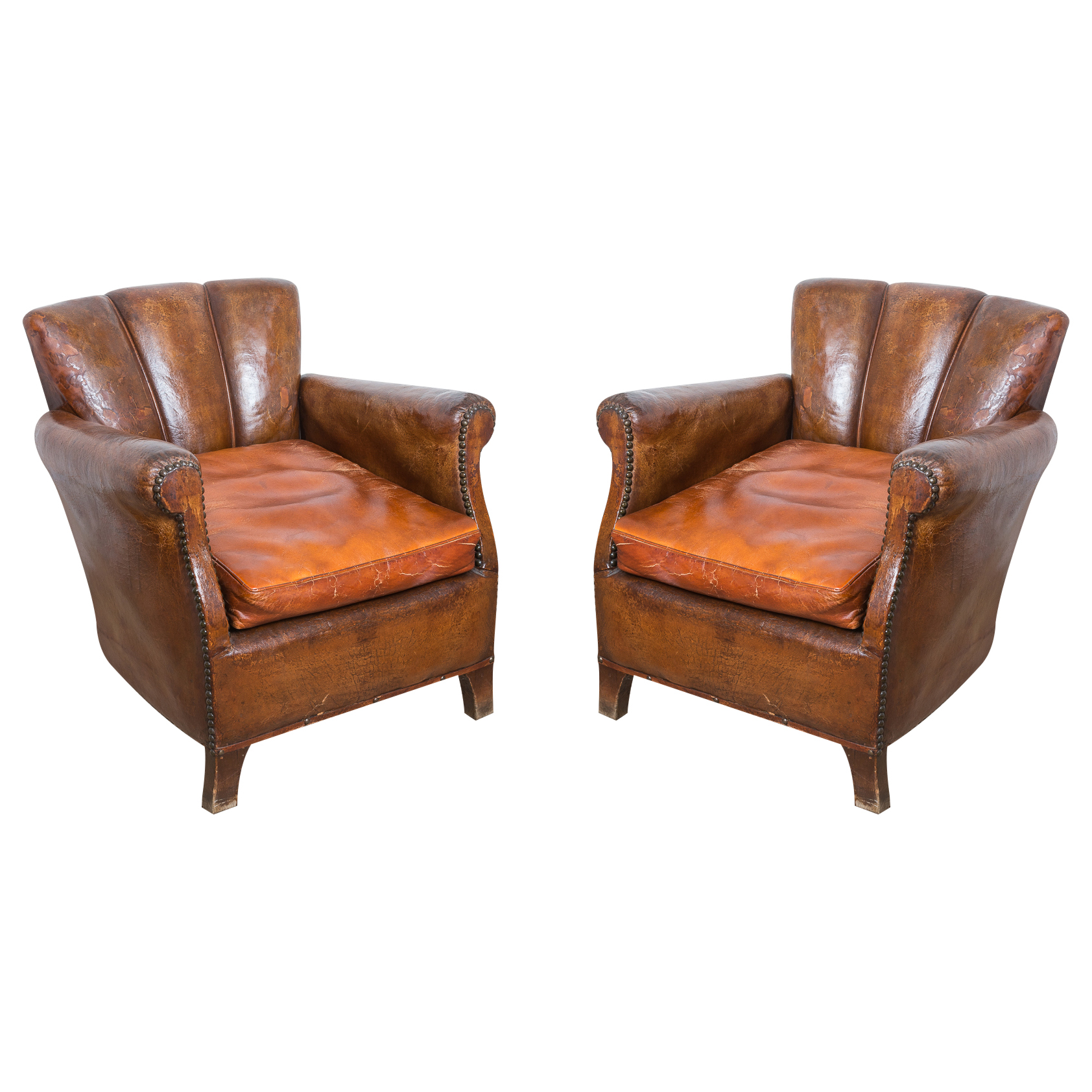 Antique French Chairs Antique French Leather Deco Chairs On Antique Row West