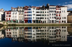 Petit Bayonne, viewed from across the Nive river.