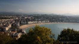 View over San Sebastian from mount Urgull.