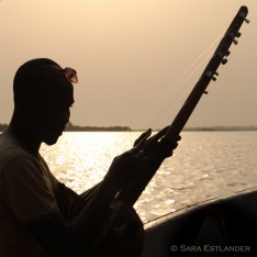 Music on the Mono river in Benin.