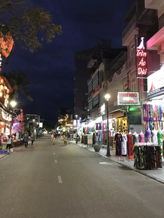 Bars and nightlife on a street in Hue