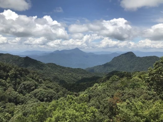 View of mountains in Bach Ma National Park