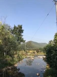 mountain river in Moganshan, Zhejiang, China