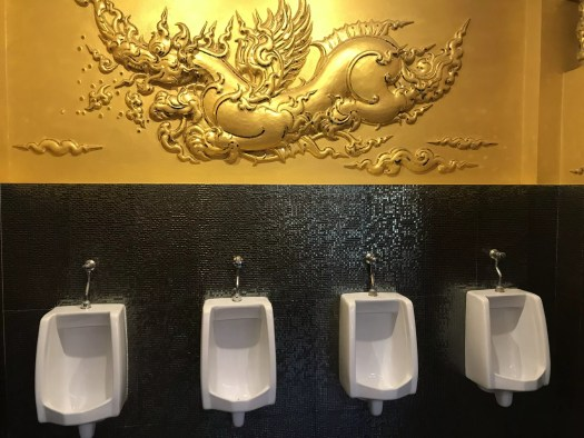 Urinals in the White Temple, one of the Chiang Rai temples