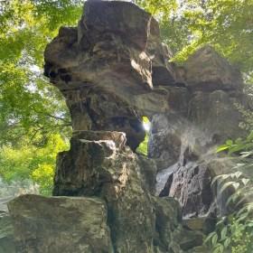 cool Chinese rock in Qiuxia Garden  - onaroadtonowhere.com