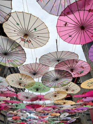umbrellas in Beijing, China onaroadtonowhere.com