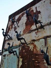 Climbing Man Wall Sculpture for sale
