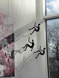 Climbing Man Wall Sculpture - Buy art online