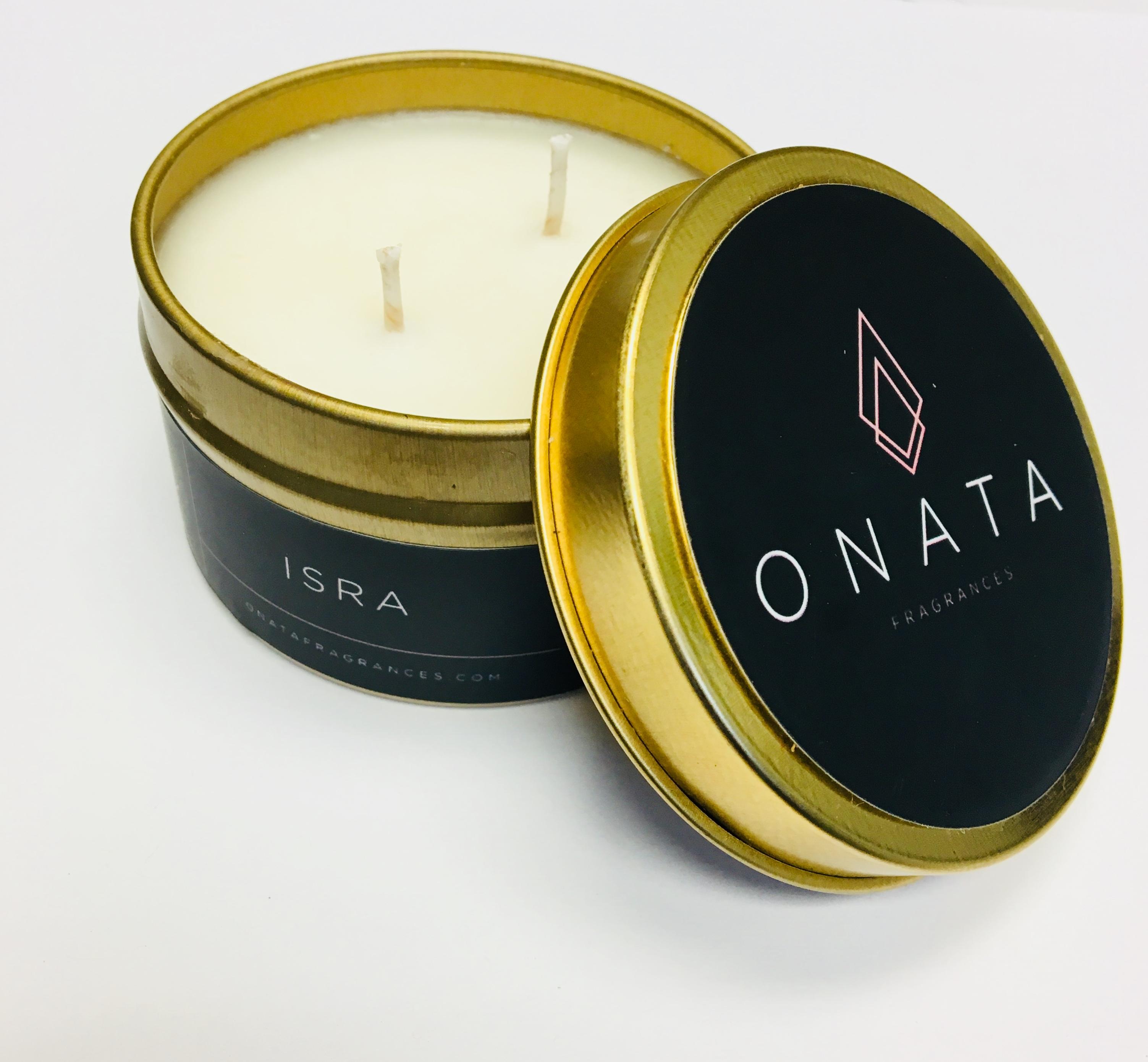 Amber Oud Candle - Onata Fragrances