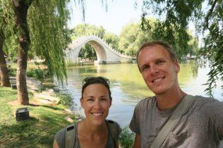 Selfie devant le pont Gaoliang