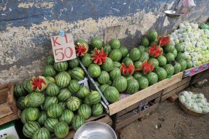 Pastèques sur le marché de Kandy