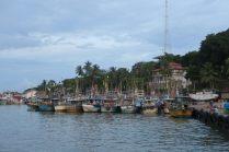 Bateaux de pêche, port de Tangalle
