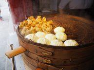 Dumplings au riz/champignons, et à la viande