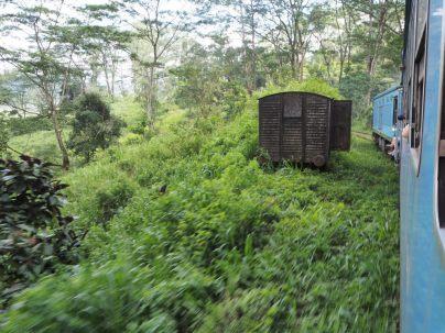 Un wagon abandonné en Kandy et Ella