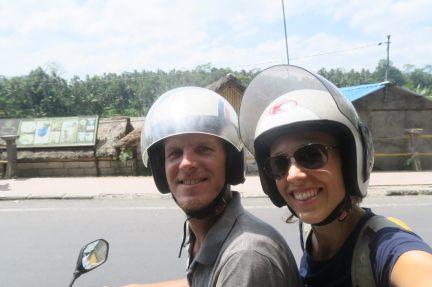 Sur le scooter...