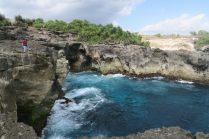 Les falaises autour de Blue Lagoon