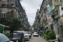 Rue à Yangon