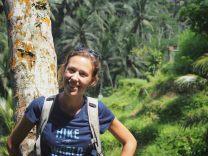 Elise aux rizières de Tegalalang