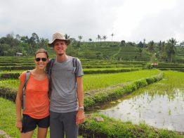 Elise et Julien, rizières de Jatiluwih