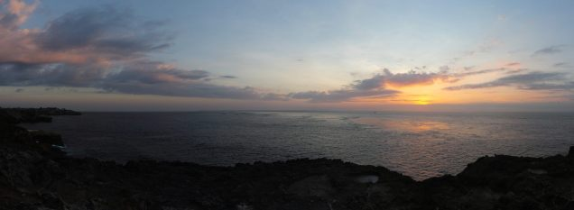Panorama du coucher de soleil, Nusa Lembongan
