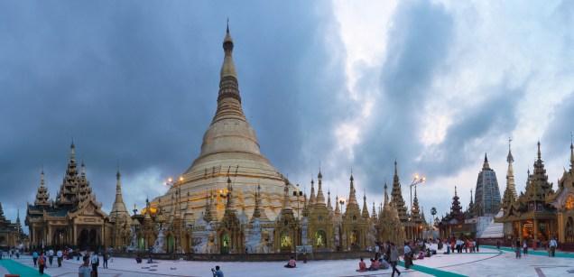 Panorama de la pagode Shwedagon