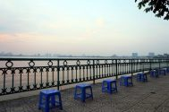 Vue sur le lac de l'ouest (Ho Tay)