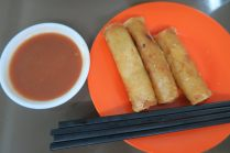 Influence chinoise : rouleaux frits