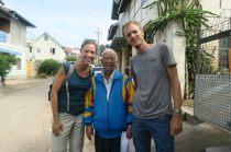 Départ du trek avec l'oncle Sam de Sam's Family Trekking (Kalaw)