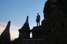 Julien en haut d'une pagode