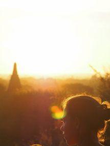 Elise lors du lever du soleil