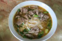 Soupe de nouilles et viande