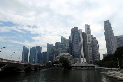 Un bout de la skyline de Singapour