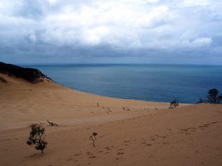 Vue sur la dune et l'océan