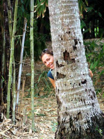Elise au parc botanique