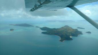 Vue sur les îles de l'archipel des Whitsunday
