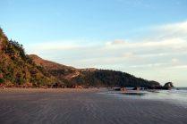 La plage de Cape Hillsbourough au petit matin