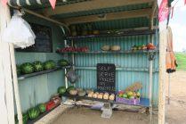 Vente de fruits et légumes basé sur la confiance