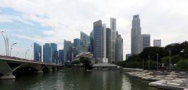 Panorama de la Skyline à Singapour