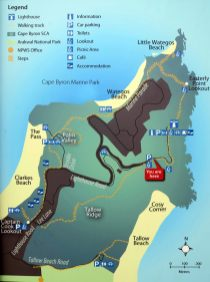 Plan de la promenade du Cap Byron