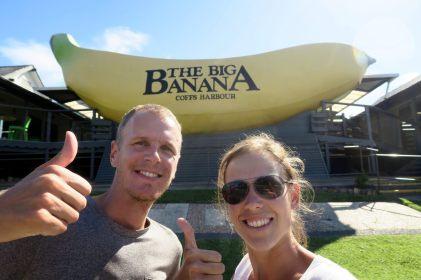 "Selfie devant la ""big banana"" de Coff Harbour"