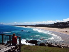 Sur la plage de Port Macquarie