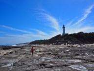 En bas du phare de Norah Head