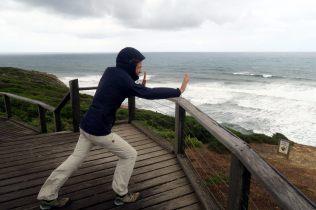 Bells Beach sur la Great Ocean Road, le vent est juste dingue...