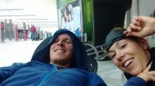 Une nouvelle nuit à l'aéroport... Prêts à dormir :)