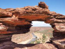 """""""Nature's windows"""", un trou dans la roche au dessus des gorges du Murchinson"""